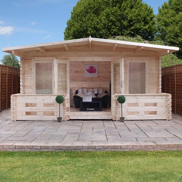 Woburn Log Cabin with Single Glazing by Mercia