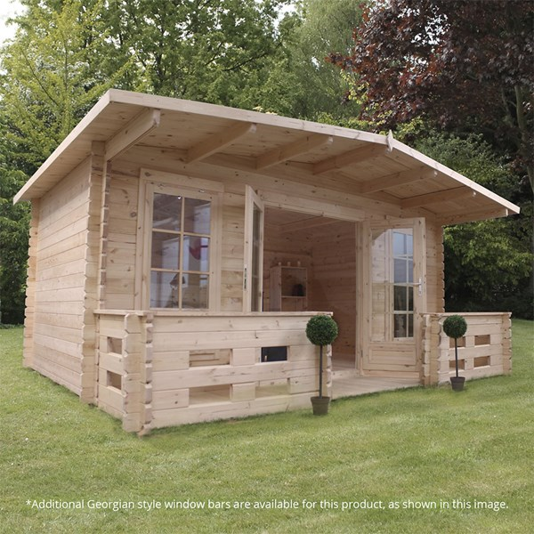 Woburn Log Cabin with Double Glazing by Mercia