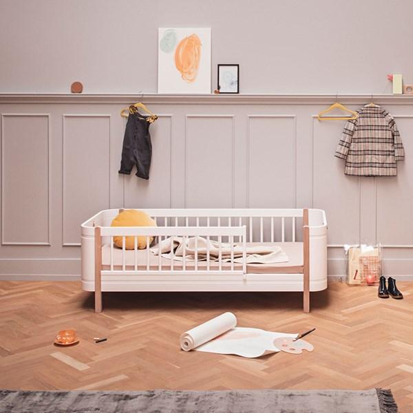 Oliver Furniture Wood Mini+ Kids Junior Bed in White & Oak