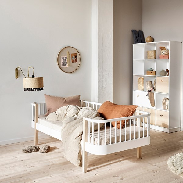Oliver Furniture Contemporary Wood Kids Day Bed in Oak & White