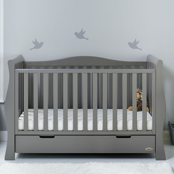 Obaby Stamford Luxe Cot Bed in Taupe Grey