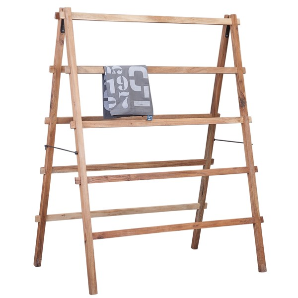 Wooden Indoor Clothes Airer in Natural Finish