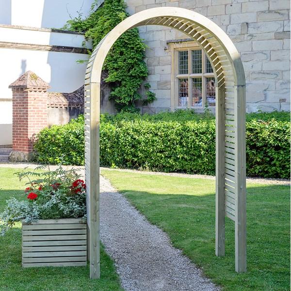 Grange Wooden Contemporary Garden Arch