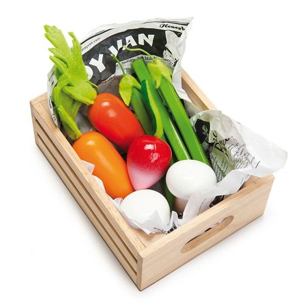 Le Toy Van Crate of Harvest Vegetables for Honeybee Market
