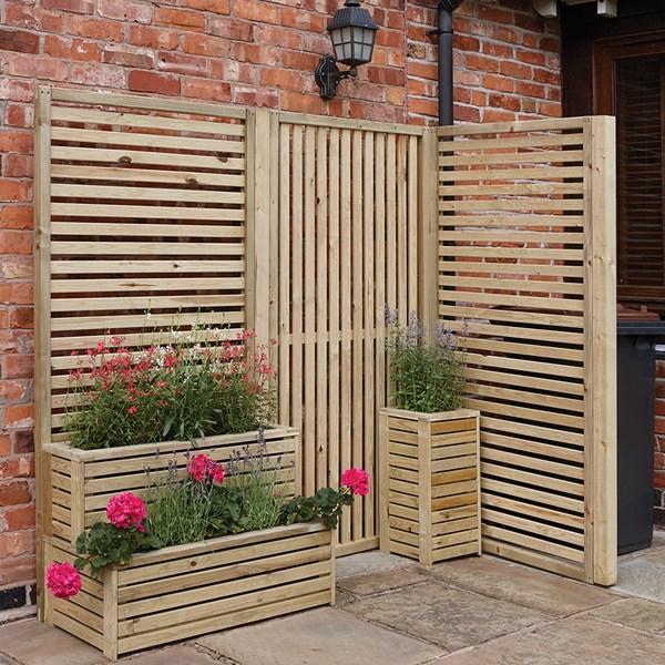 Rowlinson Vertical Slat Garden Screen