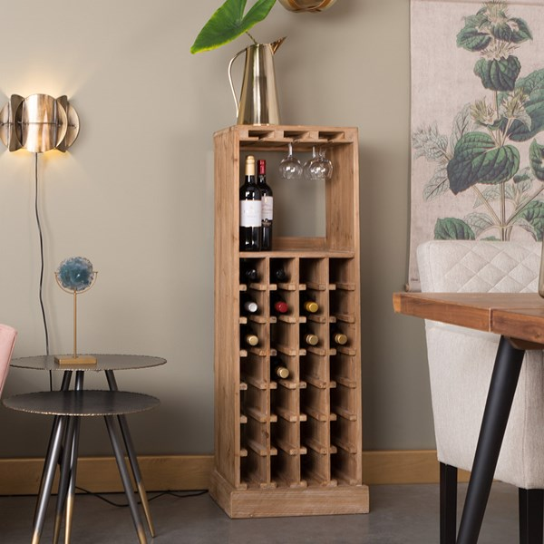 Dutchbone Solid Wood Claude Wine Cabinet