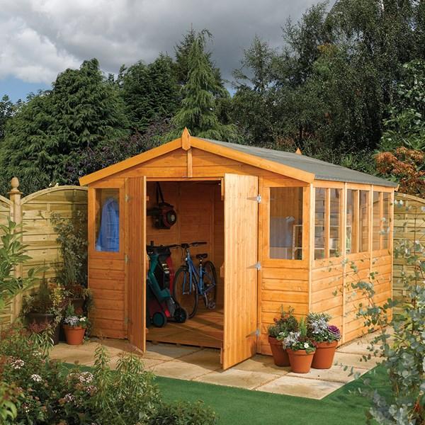 Wooden Outdoor Workshop in Honey Brown by Rowlinson