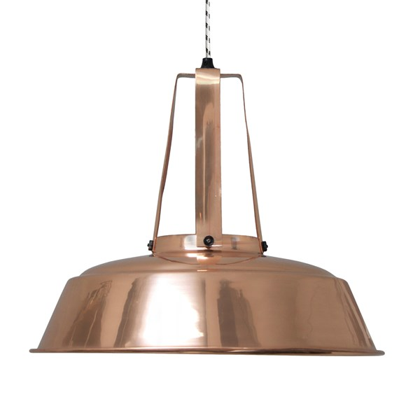 Industrial Workshop Pendant Light in Copper