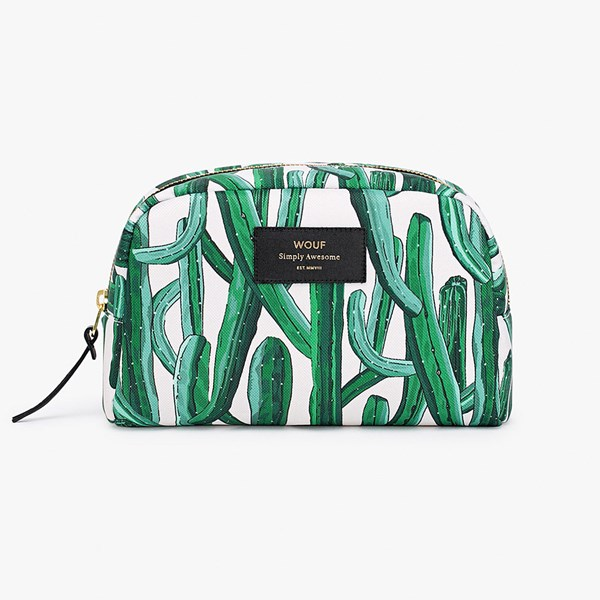 Wouf Wild Cactus Big Beauty Makeup Bag