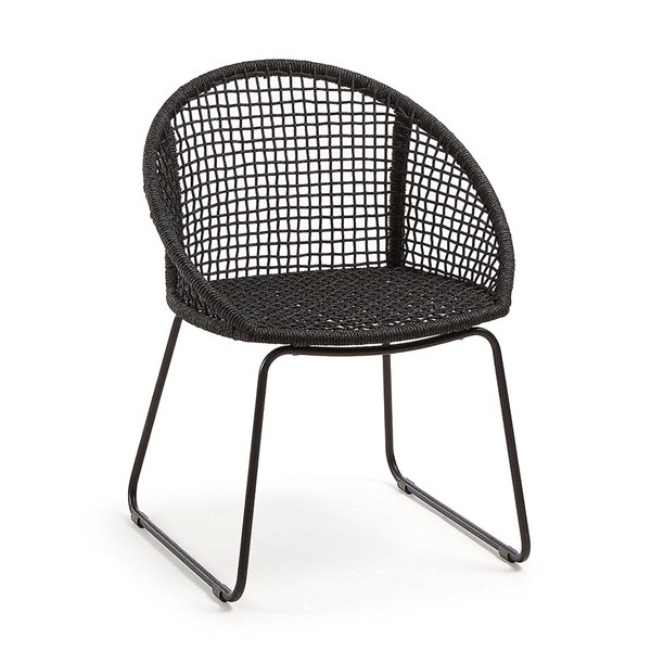 Sandrine Dark Grey Woven Armchair