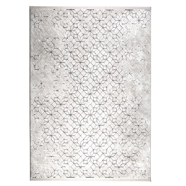 Yenga Geometric Woven Floor Rug in Black