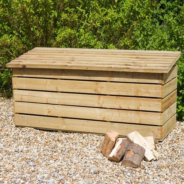 Wooden Log Storage Chest
