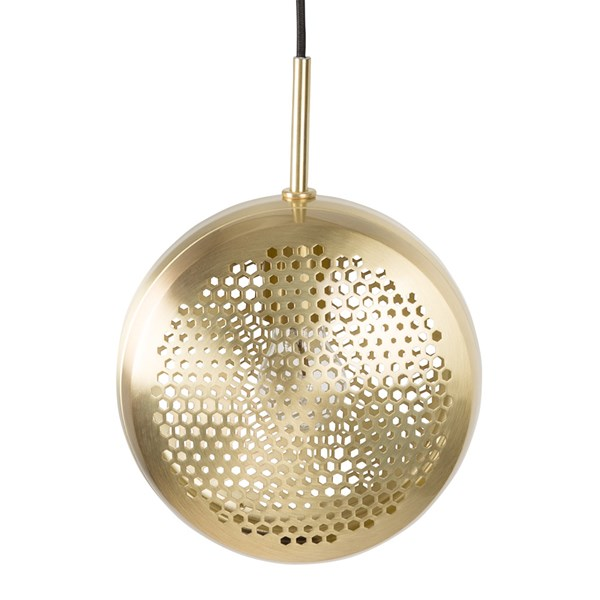 Zuiver Gringo Flat Pendant Light in Brass