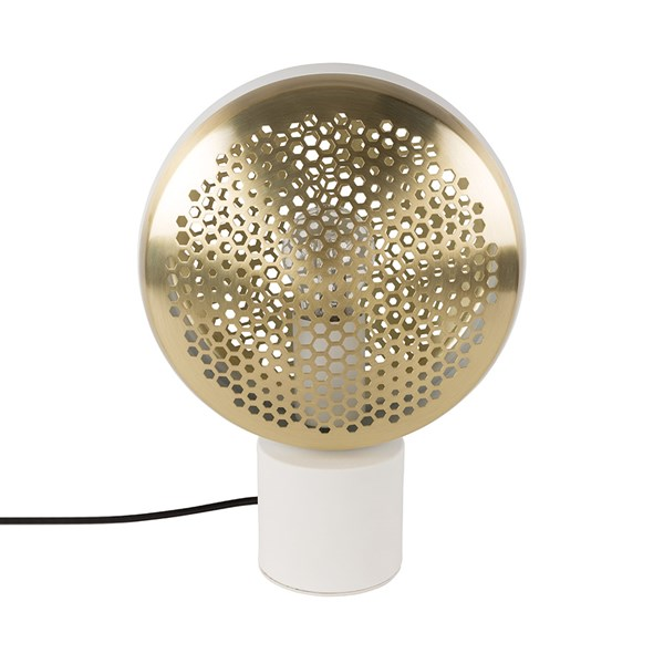 Zuiver Gringo Table Lamp in White and Brass