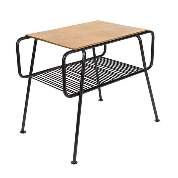 Zuiver Gunnik Side Table with Brass Finish Table Top