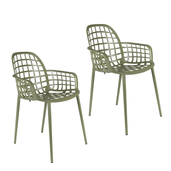 Zuiver Pair of Albert Kuip Garden Armchair in Green