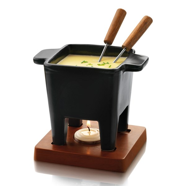 Small Black Fondue Set