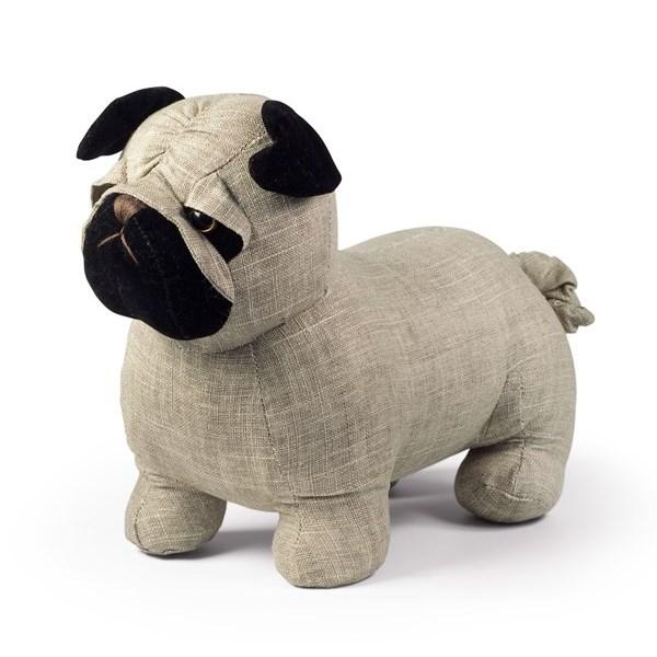 Dog Doorstop in Pug Design