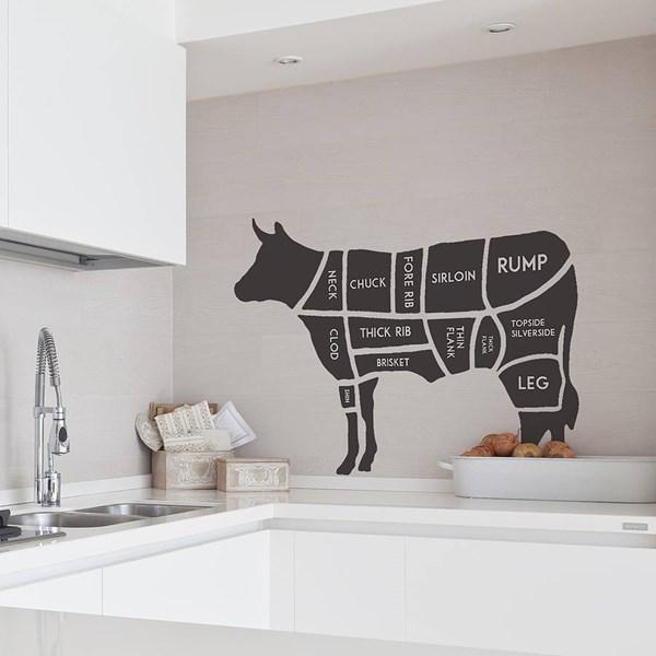 Original butchers diagram wall sticker