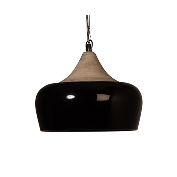 Dutchbone Coco Industrial Ceiling Lamp in Glossy Black