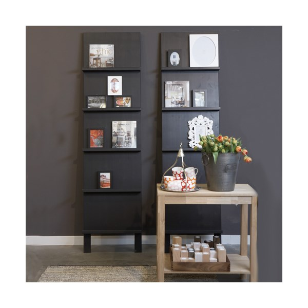 CONTEMPORARY 5 SHELF DISPLAY UNIT in Black