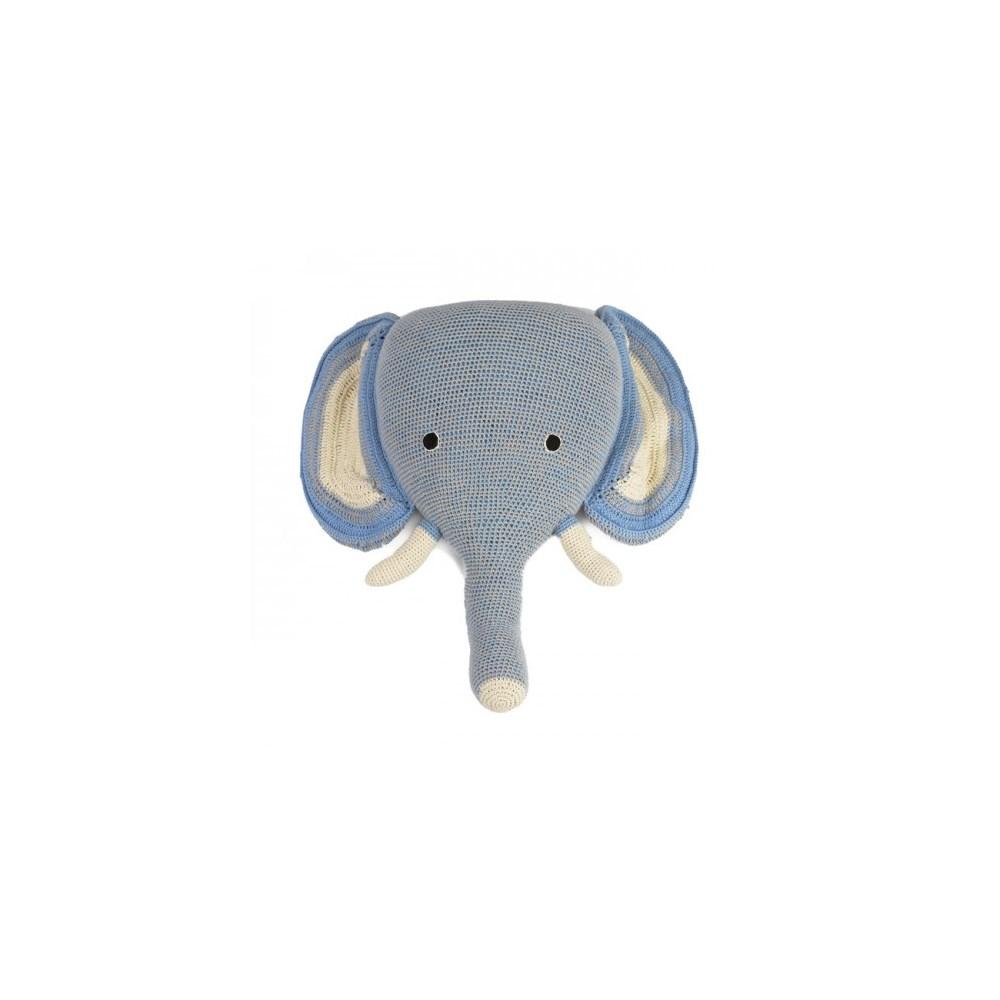 Trophy elephant head crochet | Etsy | 1000x1000