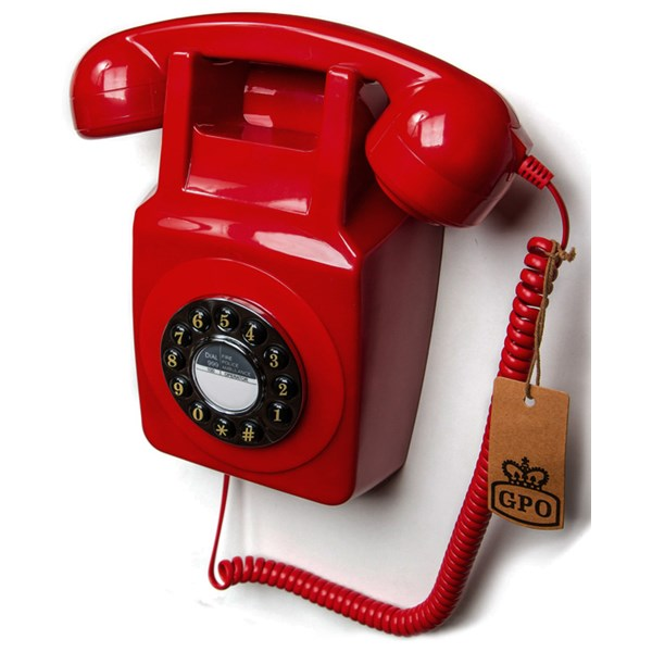 Retro Wall Telephone in Red