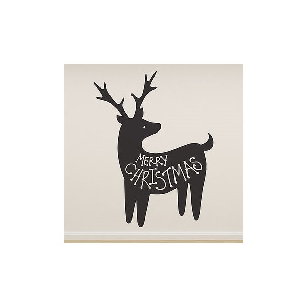 Merry Christmas Wall Sticker in Reindeer Design