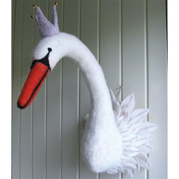 Trophy Wall Hanging Animal Head in Swan Design