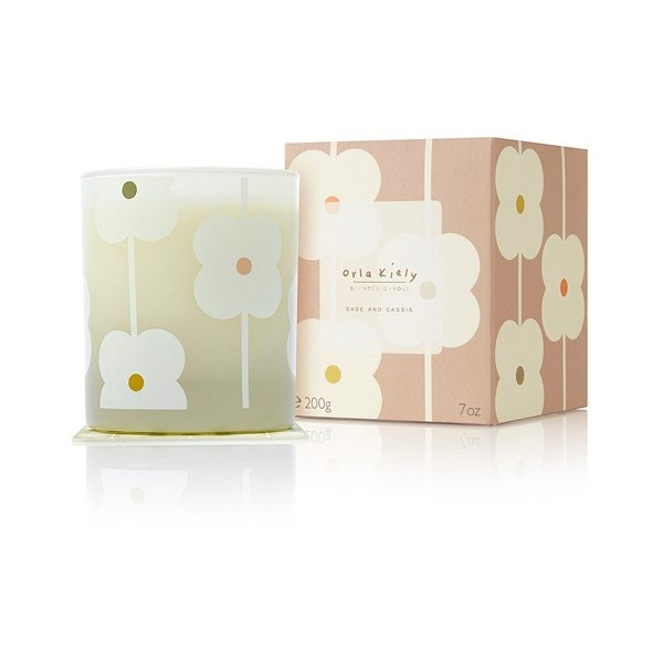 Orla Kiely Scented Candle in Sage & Cassis in a Gift Box