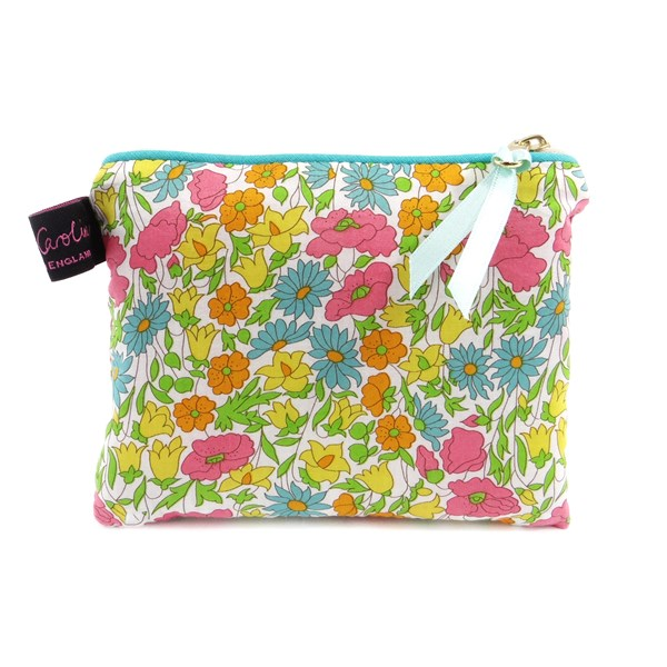 Alice Caroline Poppy & Daisy Liberty Fabric Small Purse