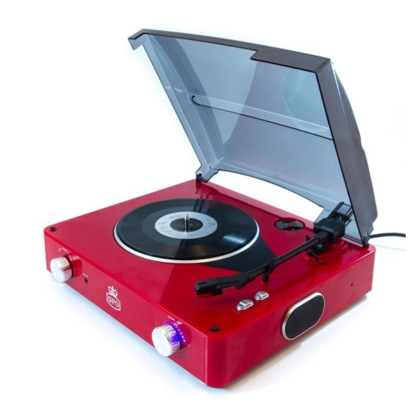 Stylo Retro Record Player in Red