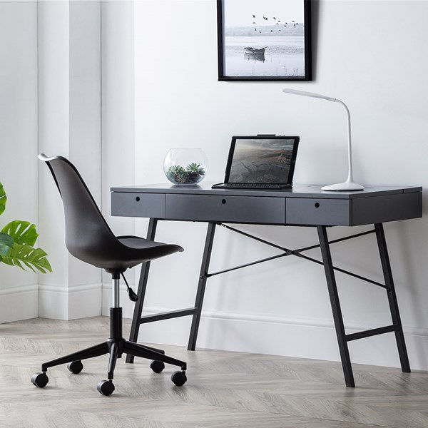Stylish Desk in Dark Grey