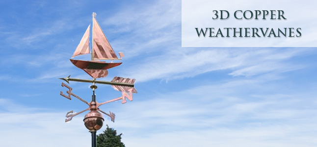 3d copper weathervanes