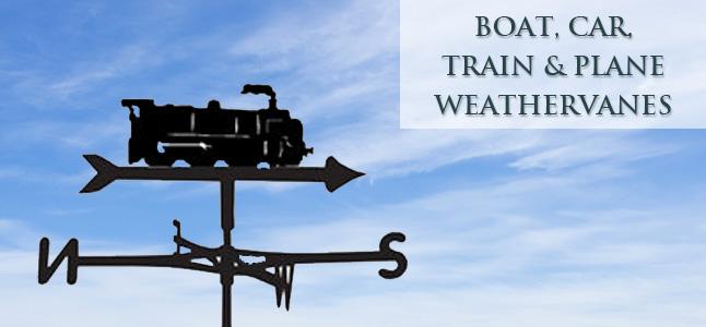 Boat Car & Train weathervanes