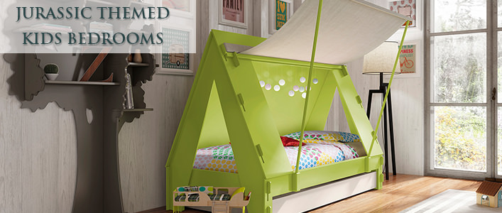 Dinosaur themed bedrooms