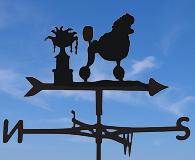 dog weathervanes P-Z