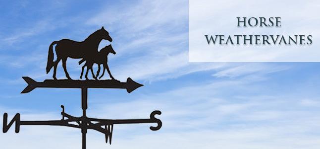 Horse style weathervanes