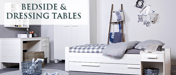 bedside tables and dressers banner