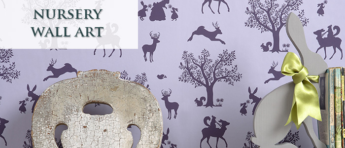 Nursery Wallpaper and Wall Art