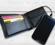 phone charging wallets