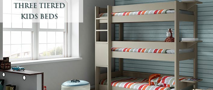 three tiered kids beds