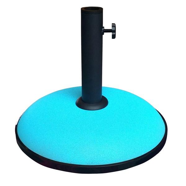 15kg Concrete Garden Parasol Umbrella Base in Aqua Blue