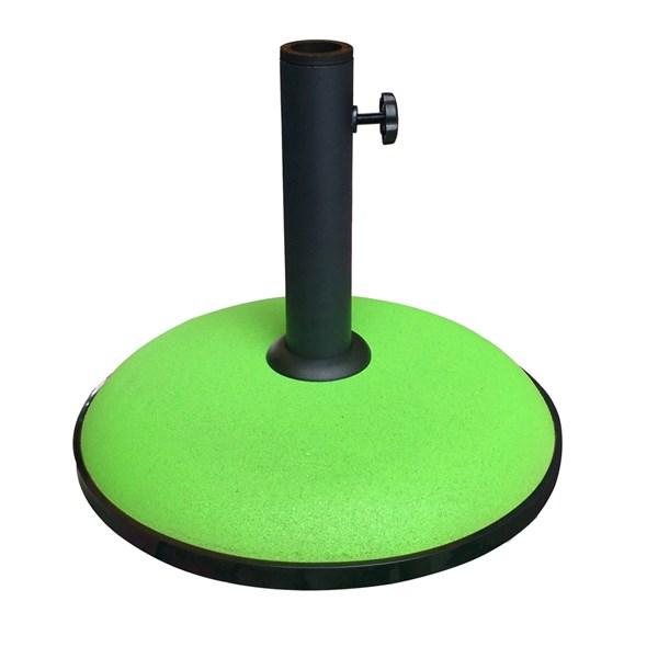 15kg Concrete Garden Parasol Umbrella Base in Lime Green