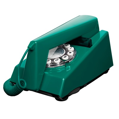 1970's RETRO TRIM TELEPHONE in Peacock Green