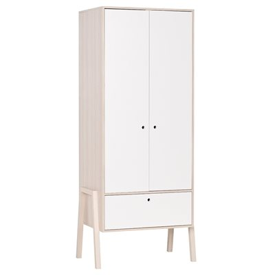 Vox Spot 2 Door Wardrobe in Acacia & White
