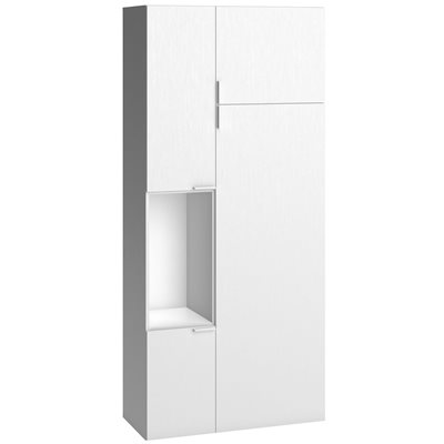 4YOU 2 DOOR WARDROBE WITH BUILT IN STORAGE in White
