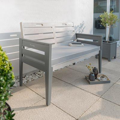 GRIGIO 2 SEAT WOODEN GARDEN BENCH