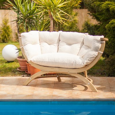 SIENA DUE GARDEN BENCH in Natura Cream