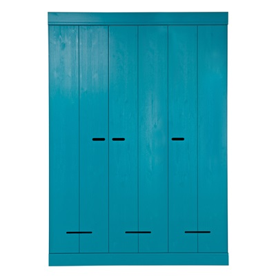 3 DOOR CONNECT WARDROBE in Petrol Blue